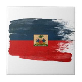 Haiti Flag Small Square Tile
