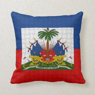 Haiti flag throw cushions