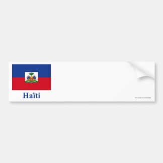 Haiti Flag with Name in French Car Bumper Sticker
