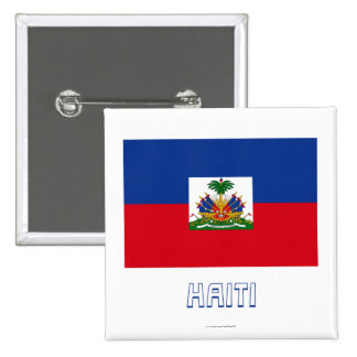 Haiti Flag with Name Pinback Buttons