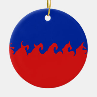 Haiti Gnarly Flag Ornament