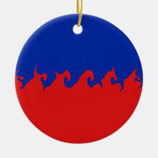 Haiti Gnarly Flag Round Ceramic Decoration