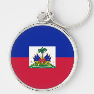 HAITI Silver-Colored ROUND KEY RING