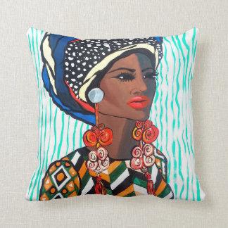 Haiti Mama Throw Pillow
