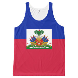 Haiti National flag Shirt All-Over Print Tank Top