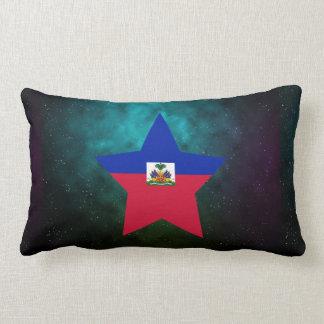 Haiti Star Design Flag Lumbar Pillow