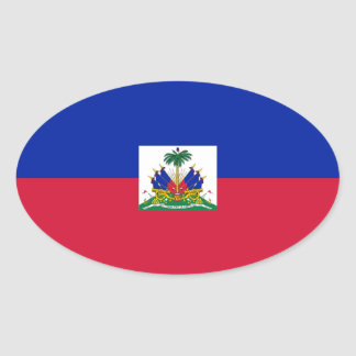 HAITI OVAL STICKER