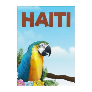 Haiti Travel poster Acrylic Print