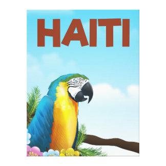 Haiti Travel poster Canvas Print