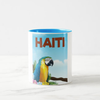 Haiti Travel poster Two-Tone Coffee Mug