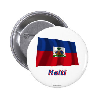 Haiti Waving Flag with Name Buttons