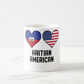 Haitian American Heart Flags Coffee Mug