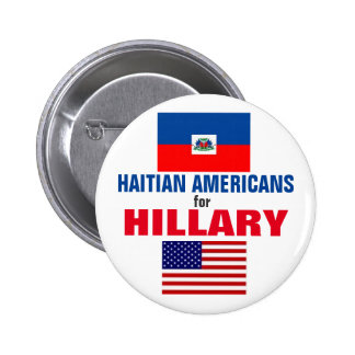 Haitian Americans for Hillary 2016 6 Cm Round Badge