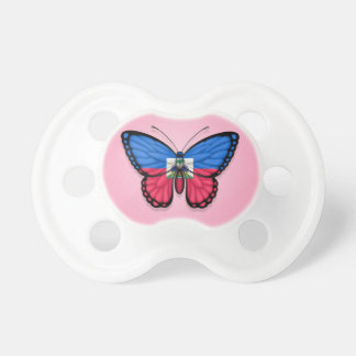 Haitian Butterfly Flag on Pink Dummy