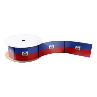 Haitian Flag Satin Ribbon