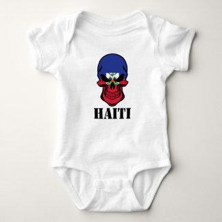 Haitian Flag Skull Haiti Baby Bodysuit