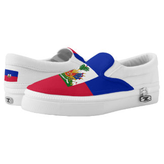 Haitian Flag Slip On Shoes