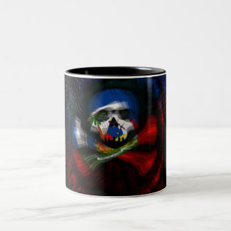 Haitian Pirate Flag Two-Tone Coffee Mug