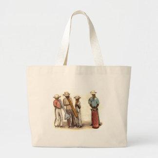 Haitian Street Musicians Large Tote Bag