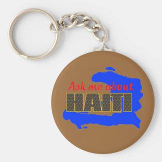 haitiaskme01 basic round button key ring