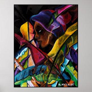 Haitienne en Vitraux Poster