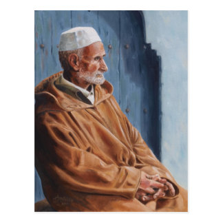 Haj - Postcard painting of a Moroccan