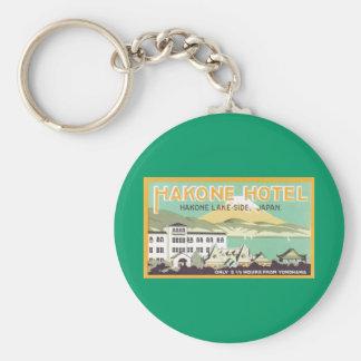 Hakone Hotel Japan Basic Round Button Key Ring