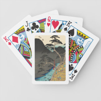 Hakone, Japan: Vintage Woodblock Print Bicycle Playing Cards