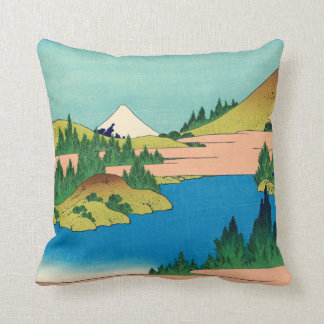 Hakone Lake in Sagami Province Throw Pillow
