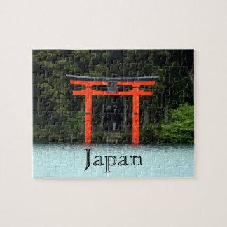 hakone red torii japan jigsaw puzzle