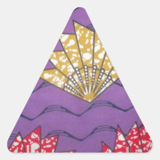 Hakuna Matata African Vintage Gifts.jpg Triangle Sticker