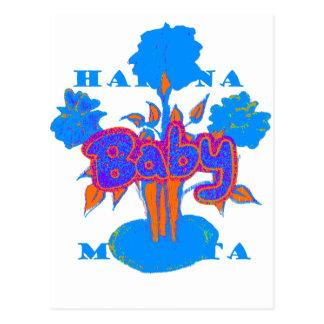 Hakuna Matata Baby Blue Postcard