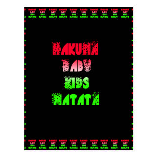 Hakuna Matata Baby Kids Gifts  amazing  color desi Postcard