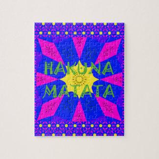 Hakuna Matata Beautiful Amazing Design Colors Jigsaw Puzzle