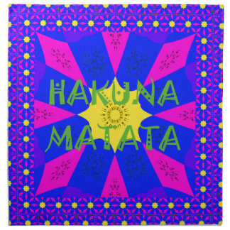 Hakuna Matata Beautiful Amazing Design Colors Napkin