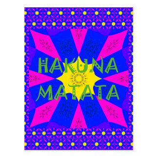 Hakuna Matata Beautiful Amazing Design Colors Postcard