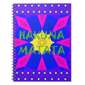 Hakuna Matata Beautiful Amazing Design Colors Spiral Note Book
