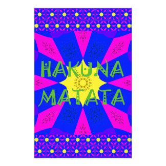 Hakuna Matata Beautiful Amazing Design Colors Stationery