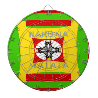 Hakuna Matata Beautiful amazing design Dartboard With Darts