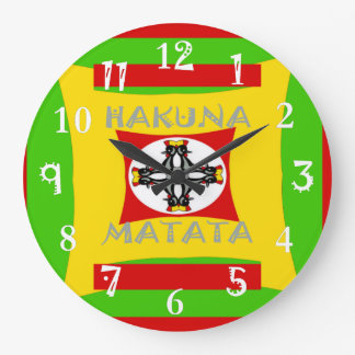 Hakuna Matata Beautiful amazing design Large Clock