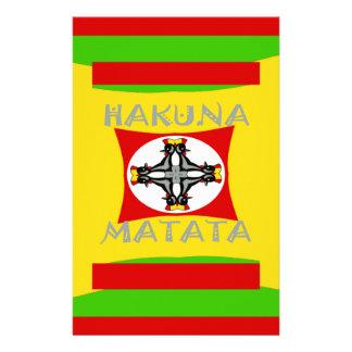 Hakuna Matata Beautiful amazing design Stationery