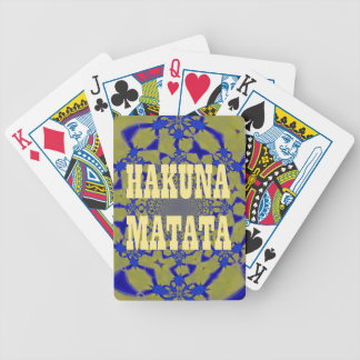 Hakuna Matata Beautiful amazing feminine African A Bicycle Playing Cards
