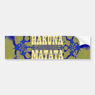 Hakuna Matata Beautiful amazing feminine African A Bumper Sticker