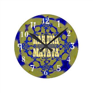 Hakuna Matata Beautiful amazing feminine African A Clock