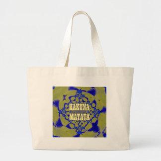Hakuna Matata Beautiful amazing feminine African A Large Tote Bag