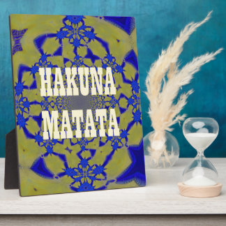 Hakuna Matata Beautiful amazing feminine African A Plaque