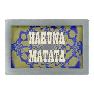 Hakuna Matata Beautiful amazing feminine African A Rectangular Belt Buckle