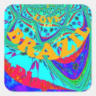 Hakuna Matata Brazil Festival colors.png Square Sticker