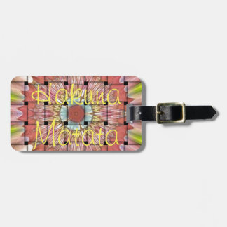 Hakuna Matata Cute Nice and Lovely Woven Design Luggage Tag