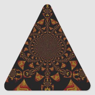 Hakuna Matata Gift Black Jamaica Pop Art. Triangle Sticker